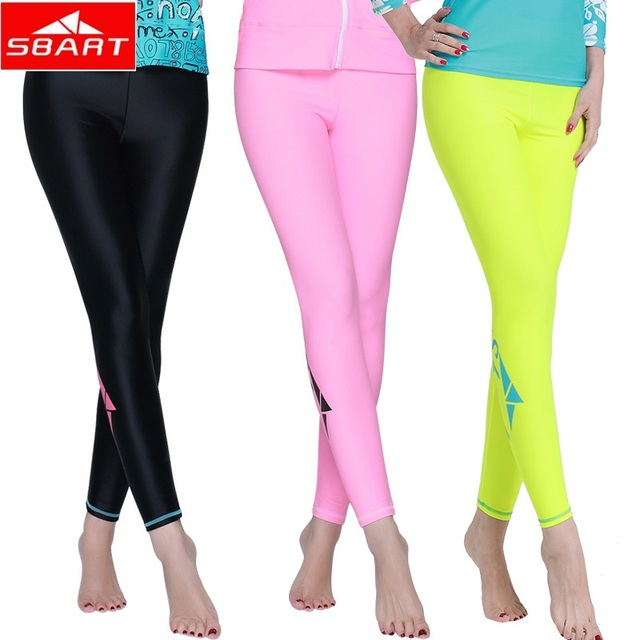 9c142458f1aaf SBART Women Swim Pants Wet Suit Surf Swimwear Men Diving Suit Ladies  Wetsuits For Women Swimming Pants women Rash Guards Pants