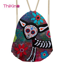 Thikin  Abstract Painting Casual Sack for Teenager Exaggerated Backpack Toddler Softback Girls Beach Mochila DrawString Bag