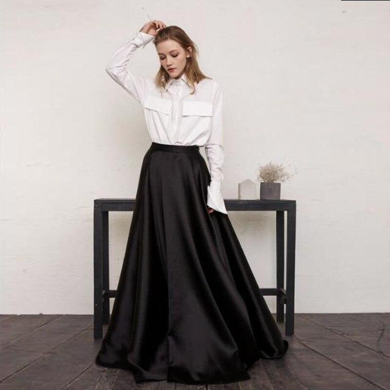 De Para Fiesta Mujeres Cintura Moda Formales Vestidos Longitud Tul Falda Faldas Piso Largas Las Hecho La Medida Negro A Alta RwxTZ1wtqA
