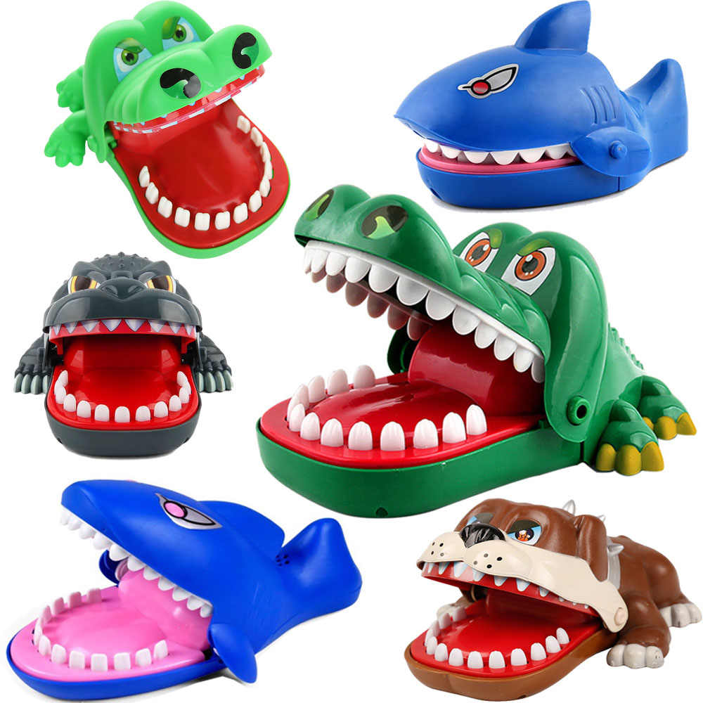 crocodile Dog Shark Funny Toy Creative Electric Mouth Bite Game Family Challenge Game Kids Push Teeth Toy Plastic Bite Finger