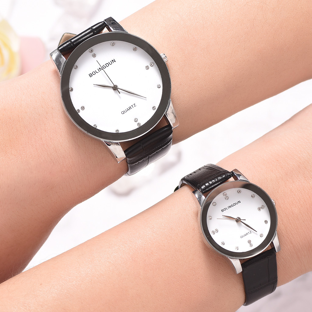 Bolingdun Men And Women Watch Belt High-End Business Quartz Wristwatch Mens Fashion Watch 2019 Couple Watches