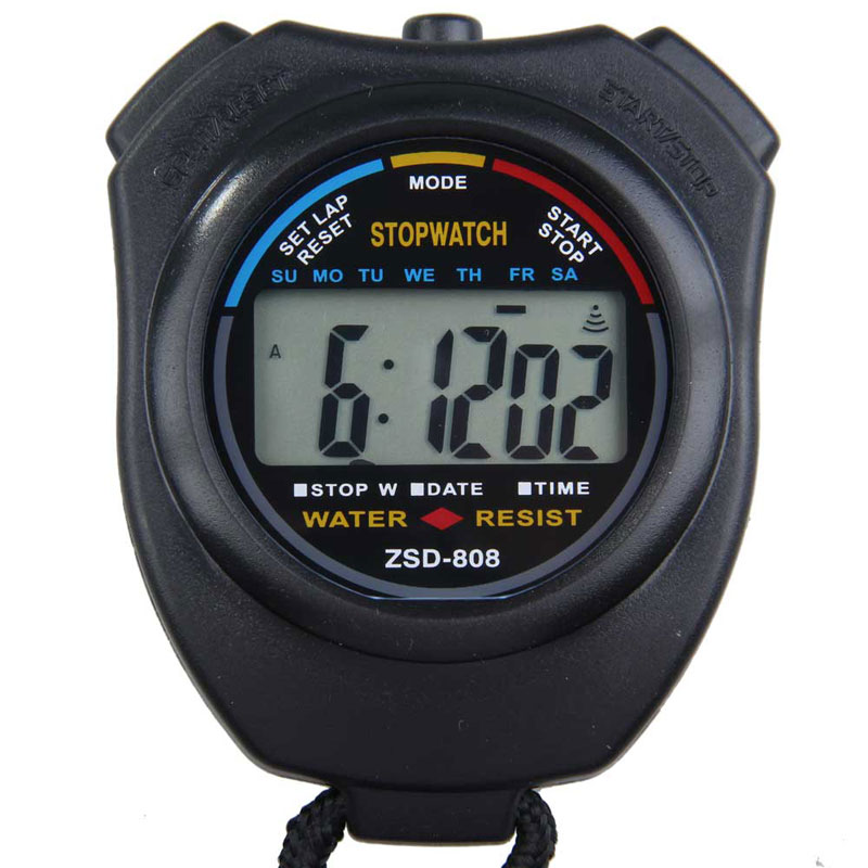 Hot Selling New Sports Stopwatch Professional Handheld Digital LCD Sports Stopwatch Chronograph Pedometer