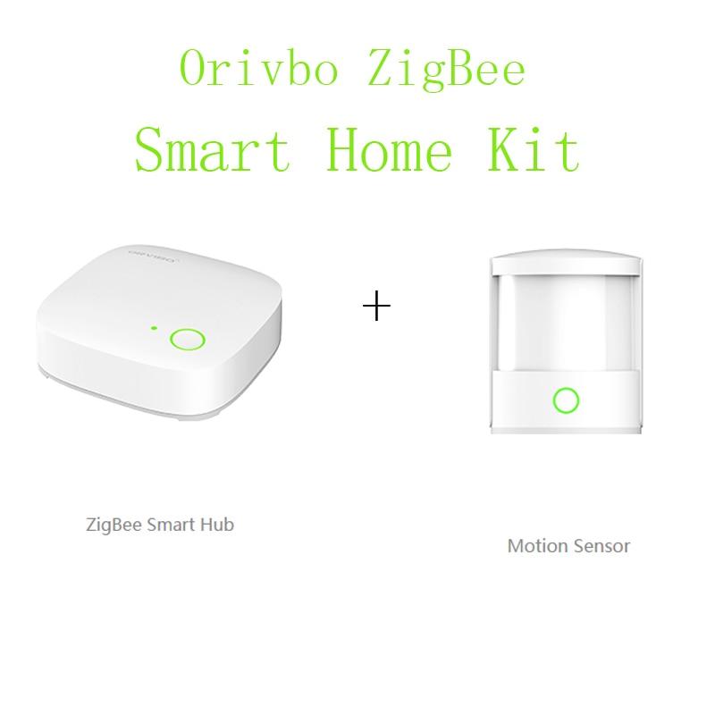 orvibo zigbee home automation smart home wireless controller mini hub and smart motion sensor. Black Bedroom Furniture Sets. Home Design Ideas