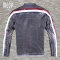 Retro black/grey genuine leather jacket coat men cowskin motorcycle jackets chaqueta moto hombre veste cuir homme cappotto LT144