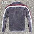 Retro negro/gris capa de la chaqueta de cuero genuino hombres de piel de vaca de la motocicleta chaquetas chaqueta de moto hombre veste cuir homme cappotto lt144
