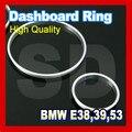 Frete Grátis para BMW E38 E39 E53 Prata Cluster Anel Calibre Dashboard anel de plástico ABS