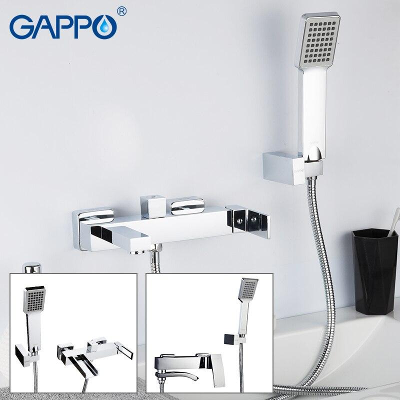 GAPPO Bathtub Faucets Brass Tub Faucet Waterfall Faucet Bath Tub Tap Deck Mounted Robinet Baignoire