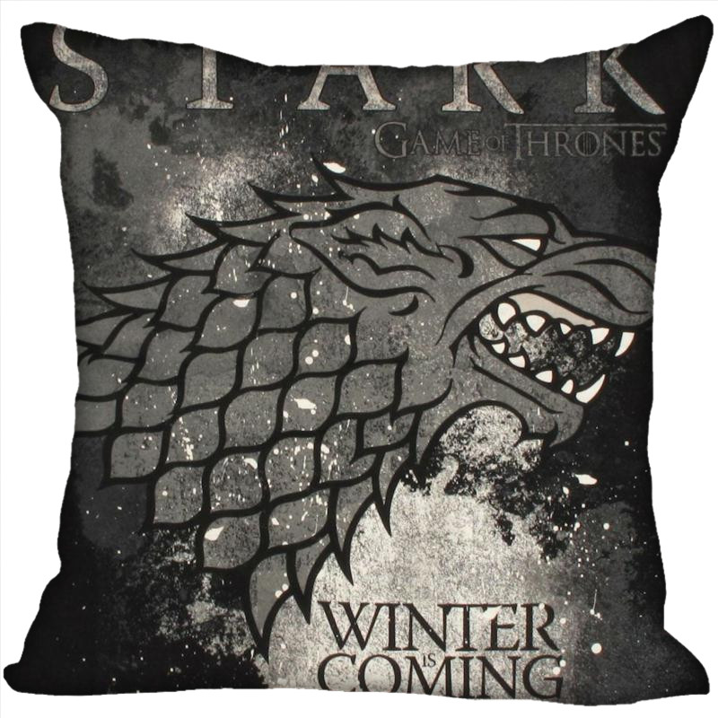 H+P#81 New Hot Custom Pillowcase game of thrones #2 soft 45x45 cm (One Side) Pillow Cover Zippered SQ01003@H081 image
