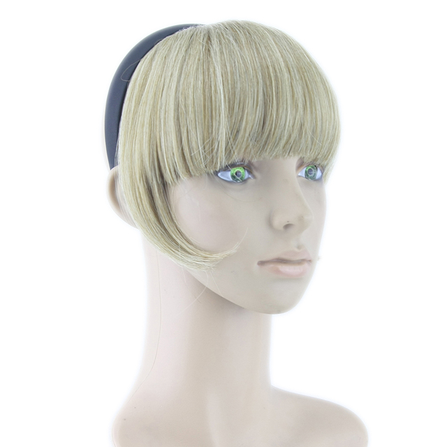 Soowee 8 Colors Hair Bangs With Clip Blonde Black Synthetic Hairpieces High Temperature Fiber Fringe