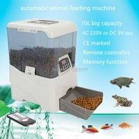 18 Бесплатная доставка dc9v AC220V коммерческих животноводства Кормление оборудование с дистанционным управлением автоматический птиц и рыб по