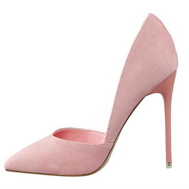 Women Pumps Fashion Sexy High Heels Shoes Women Pointed Toe Thin Heel Ladies Wedding Shoes Black Pink