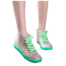 2017 vente Chaude De Mode Transparent femmes imperméables cheville bottes de pluie chaussures pour femmes botas de agua bottes en caoutchouc YX022