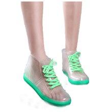 2017 Горячие продажа Мода Прозрачный женщины резиновая водонепроницаемые сапоги дождь обувь для женщин botas де агуа резиновые YX022