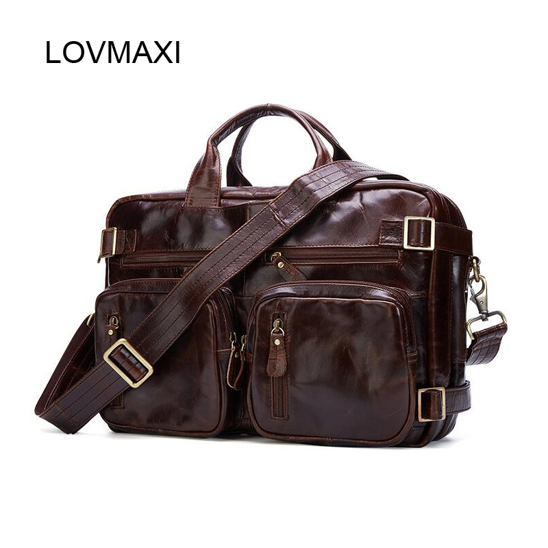 LOVMAXI New Men handbags Mens Briefcases Genuine Leather Handbags Oil Leather Male Messenger Bag Multi-function Travel BagsLOVMAXI New Men handbags Mens Briefcases Genuine Leather Handbags Oil Leather Male Messenger Bag Multi-function Travel Bags
