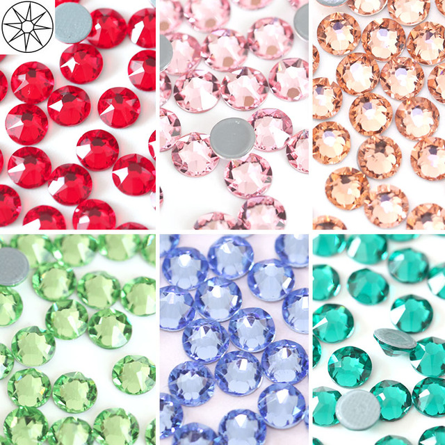 All Colors SS20 144pcs Hot Fix Rhinestone 2088 Cut Facets 8 Big 8 Small  Motif Iron on Stones for Transfer Designs Y3685 ed477e545155