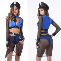 Sexy Police Costume For Women Halloween Carnival Cosplay Cop Costume Night Club Police Women Sexy Outfit