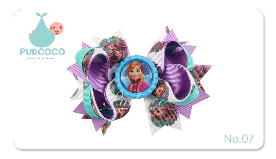 JRFSD 10 Colors Hair Clip Headband Princess Elsa Anna Ribbon With Alligator Kids Hair Bands Hair Accessories H0 20