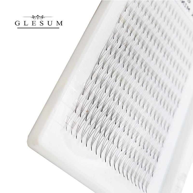 GLESUM 4DVolume Fans Eyelashes Extension Long Stem Premade Fan Lash Hot Selling Eyelash Individual Extensions With Free Shipping in False Eyelashes from Beauty Health