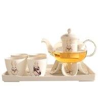 Холодная вода тепла комплект Керамика Чай горшок бытовой Чай горшок набор Чай стакана холодной воды доставка