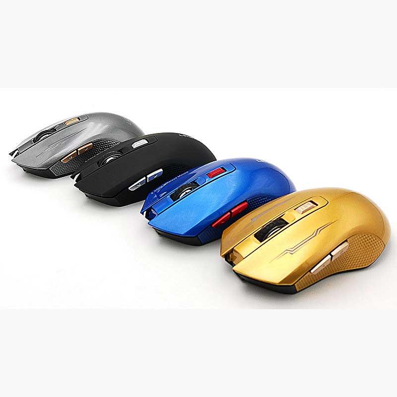 16 шт. 2,4 ГГц USB 6D Перезаряжаемые компьютерных игр Беспроводной Мышь Mute Slient нажмите для портативных ПК