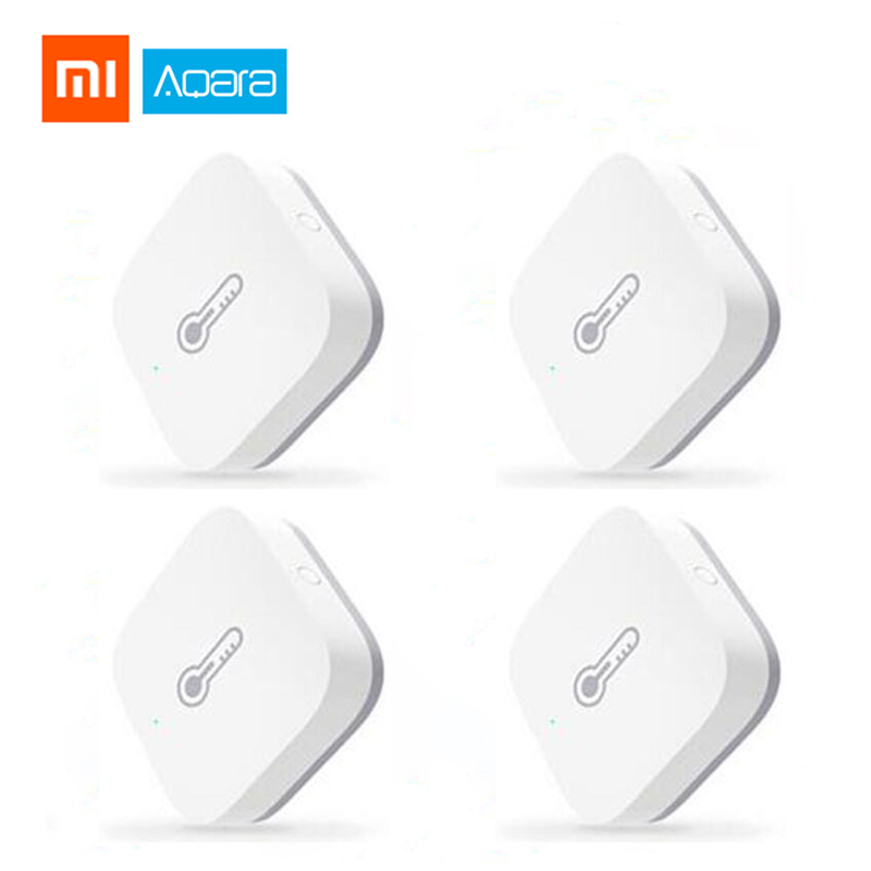 Xiaomi Aqara Temperature Humidity Sensor Environment Air Pressure Mijia Smart Home ZigBee Wireless Control Work Mi Home Gateway