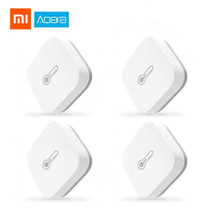 Xiaomi Aqara Temperature Humidity Sensor Environment Air Pressure Mijia Smart Home ZigBee Wireless Control Work Mi Home Gateway