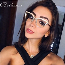 Bellcaca Optical Eyeglasses Women Fashion Prescription Spectacles Diamond Glasses Frames Transparent Clear Lens Eyewear BC824
