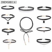 Charm Black Velvet Lace Daisy strip Multilayers pendant Choker Necklace woman Collar Party Jewelry Neck accessories(China)