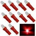 10 Шт. T5 12 В Красный СВЕТОДИОД Автомобилей Клин Dashboard ДАШ Датчик Света Лампы