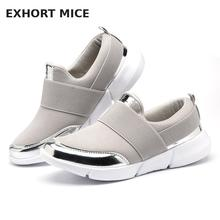 2017 Brand Mesh Breathable Summer Shoes Women Loafers Slip On Casual Shoes Ultralight Flats New Zapatillas Size 35-42