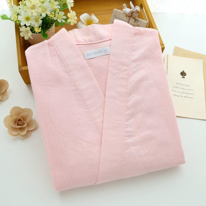 Image 5 - Women Pajamas Cotton Gauze Kimono Half sleeved Trousers Pyjamas Summer V Neck Sleepwear Loungewear Pijama Mujer Home Clothes-in Pajama Sets from Underwear & Sleepwears