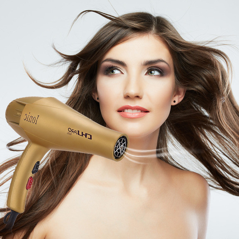 CHJ Hair Dryer Professional Salon Hairdryer Blow Dryer Ionic High Power Hair Style Tool Household Electric Hair Blower electric professional hair dryer for hairdresser kf 8917 fukuda yasuo hairdryer high power hair dryer 220v 2200w