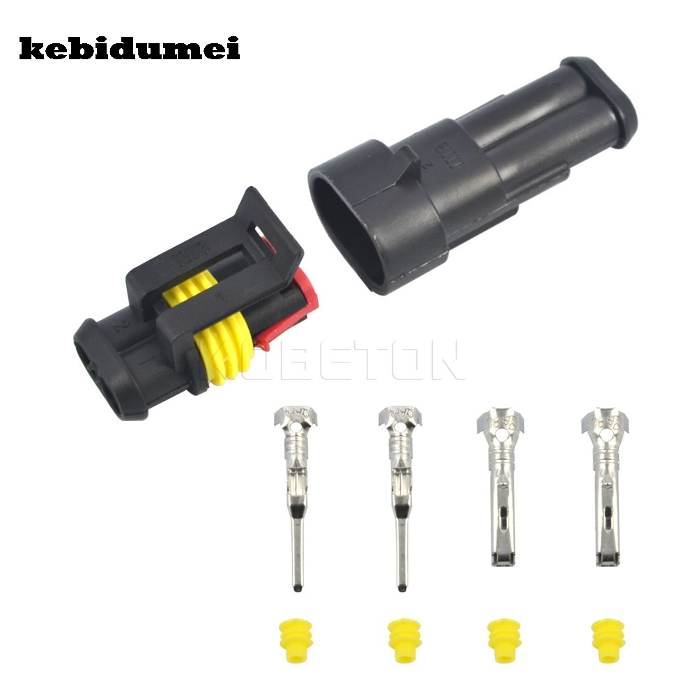 Helpful Kebidumei Durable Car 2 Pin Way Sealed Waterproof Electrical Wire Auto Connector Plug Set Car Motorcycle Hid Led Light Fog Lamp Comfortable And Easy To Wear Computer & Office