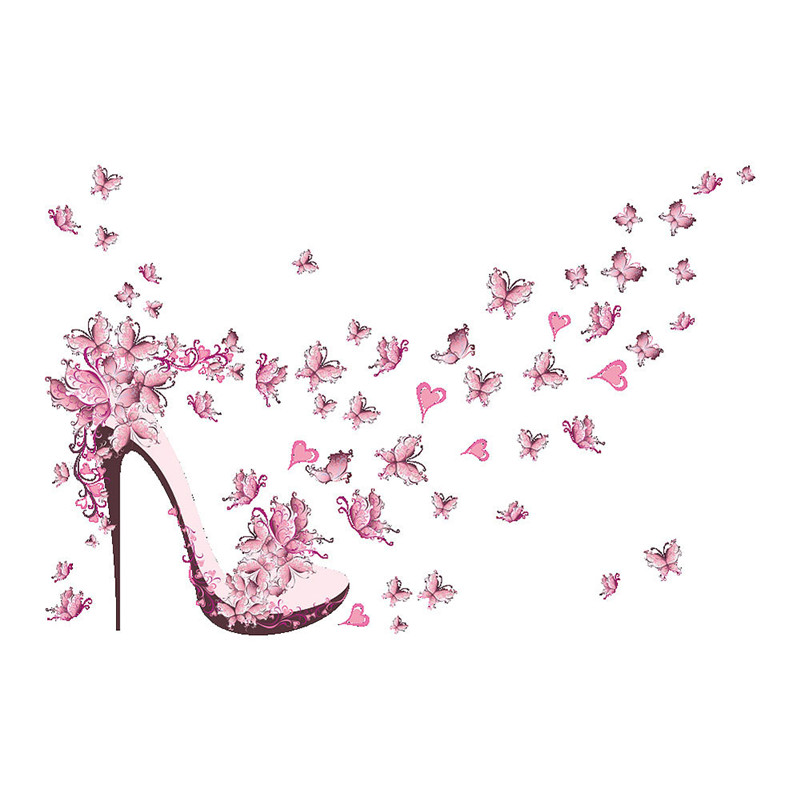Online-Shop Abnehmbare Rosa Highheeled Schuhe Schmetterling Vinyl ...