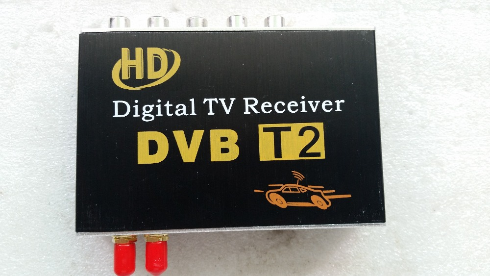 Hot-selling car trainborn dvb-t,  dvb-t2 car digital hd tv set top box receiver dvb t2 car 180 200km h digital car tv tuner 4 antenna 4 mobility chip dvb t2 car tv receiver box dvbt2