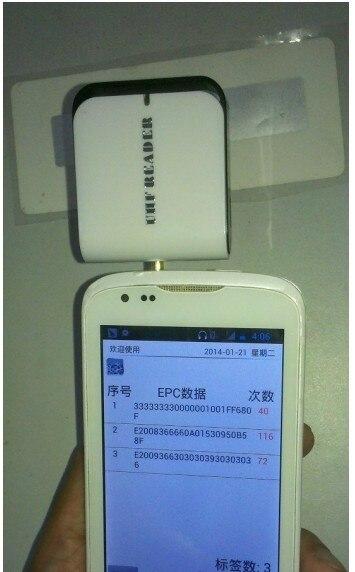 UHF RFID Reader pour Mobile Téléphone ISO18000-6C