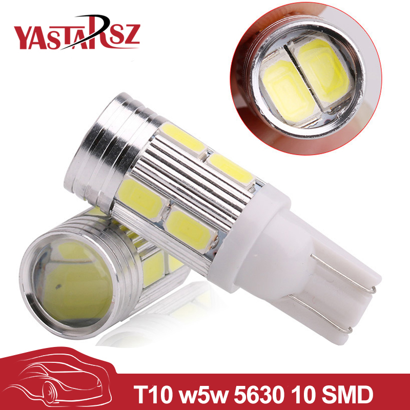 YASTARSZ Car led 1Pcs 2017 Car Auto LED T10 194 W5W no-Canbus 10 smd 5730 LED Light Bulb No error led light Car styling 2pcs 12v 31mm 36mm 39mm 41mm canbus led auto festoon light error free interior doom lamp car styling for volvo bmw audi benz