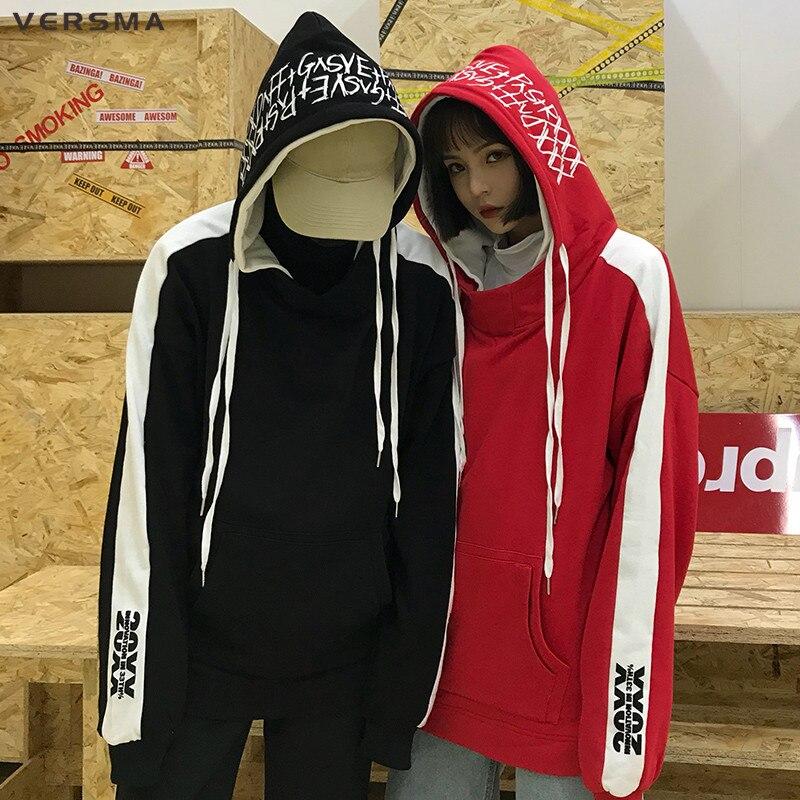 VERSMA coréen Ulzzang Harajuku Graffiti K-pop Rap sweat à capuche hommes femmes Hip Hop Streetwear surdimensionné Sweatshirts homme 5XL