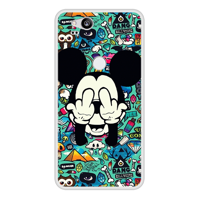 Case For Google Pixel 2 Soft Silicone TPU Mickey Minnie Patterned Printing Phone Cover For Google Pixel 2 Case