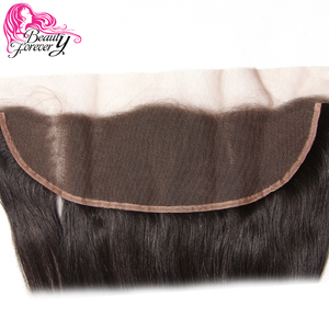 Image 4 - Beauty Forever 13*4 Lace Frontal Straight Brazilian Hair Free Part Ear to Ear 100% Remy Human Hair Lace Frontal