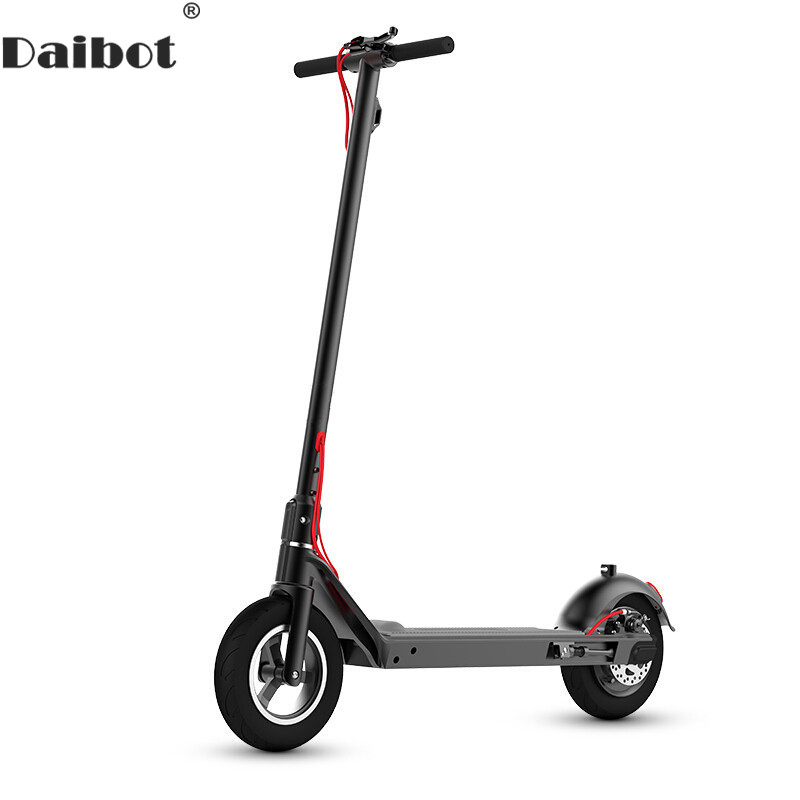 Daibot Folding Kick Scooter Two Wheel Electric Scooters Foot Control Acceleration Samsung Cell Battery Electric Scooters Adults folding kick scooters foot scooters children best birthday gift with flash pu wheels free shipping
