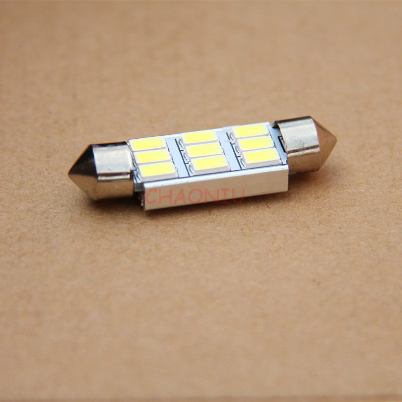 100pcs Festoon 31mm 36mm 39mm 41mm LED Bulb C5W C10W CANBUS NO ERROR 9 SMD 5630