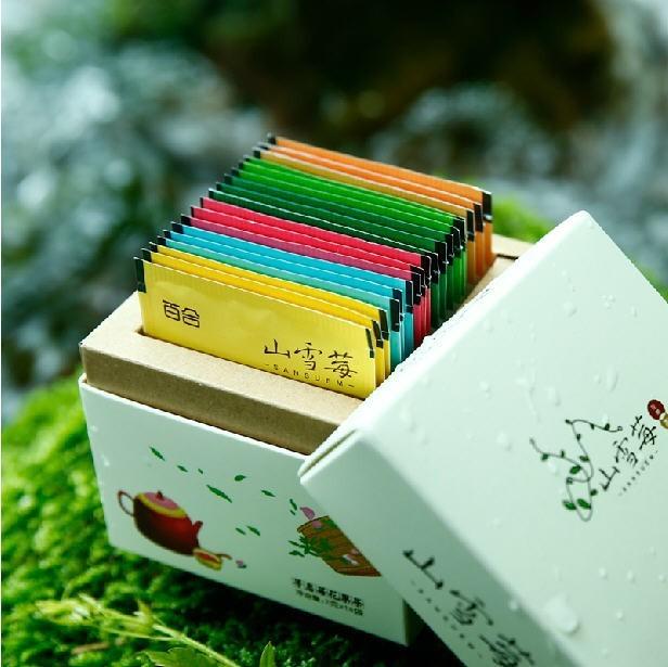 2016 New Rose jazmín perfumado osmanthus lirio combinación de equipos de amigas que adelgaza té bolsita de té 36g 9 tipos de sabor