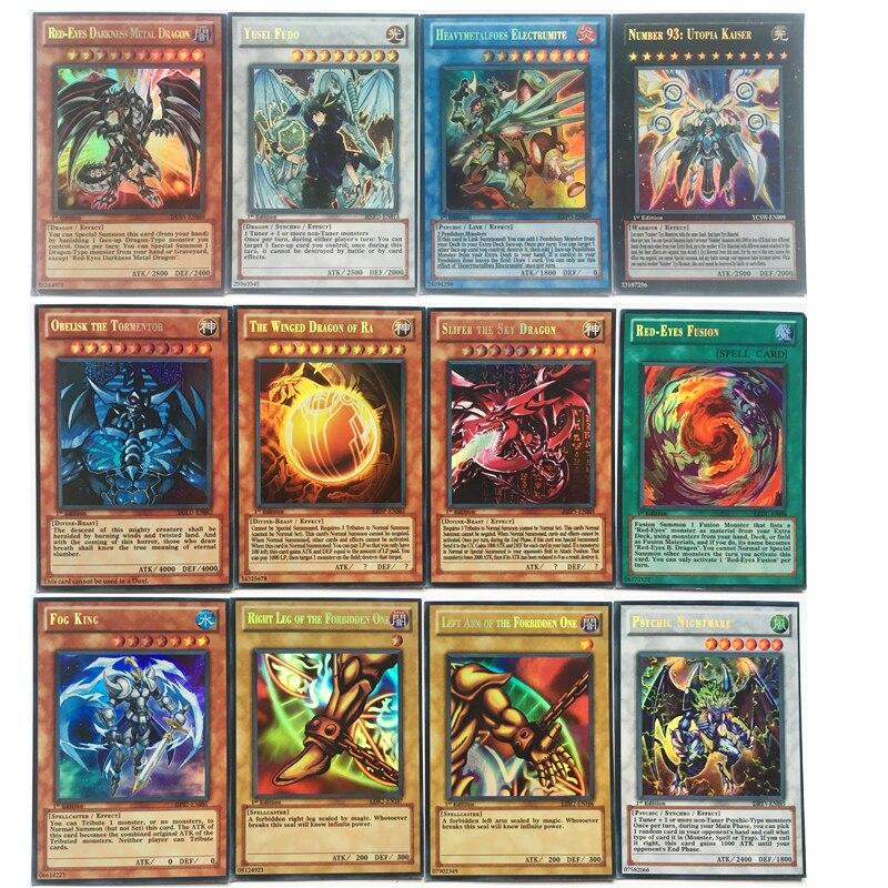 60 pièces/ensemble anglais Yugioh cartes avec Fine boîte en métal Collection carte Yu Gi Oh jeu cartes en papier jouets pour enfants adulte cadeau