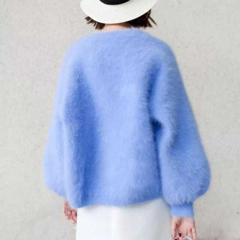Женская Светодиодная лампа направленного света 2019 новая весенняя женская v-образный вырез женский вязаный кардиган куртка, пальто, свитер верхняя одежда Женская Талия Пальто