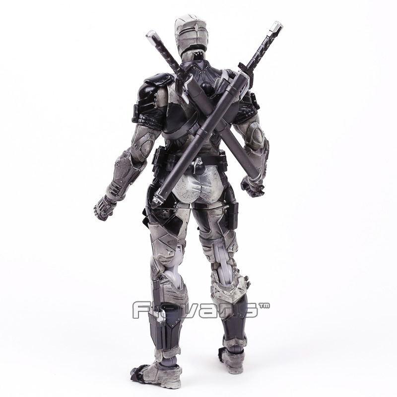 Marvel Universe VARIANT PLAY ARTS KAI Deadpool Gray Ver.PVC Action Figure Collectible Model Toy 25cm