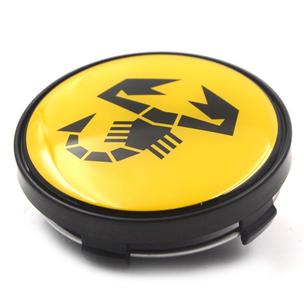 abarth, 4 pc lote, escorpião, abarth, logotipo,