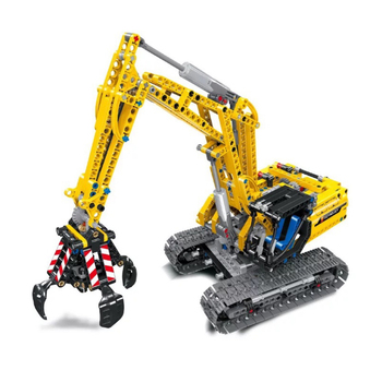 Technic 2in1 Excavator Building Blocks kit Bricks Set Classic City Model educational creative DIY Kids Toys Gifts 38014 lepin 36004 the christmas glass ball set 241pcs creative series building blocks bricks educational toys child diy gifts 40223