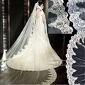 3 Meter White Ivory Cathedral Wedding Veils Long Lace Edge Bridal Veil with Comb Wedding Accessories Bride Wedding Veil S851