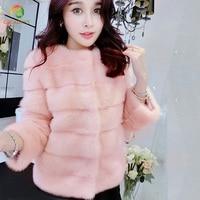 New Arrival 2018 Fashion Women Fur Coat High Quality Faux Mink Fur Coat Female Winter Warm Thick Jacket Outerwear Female